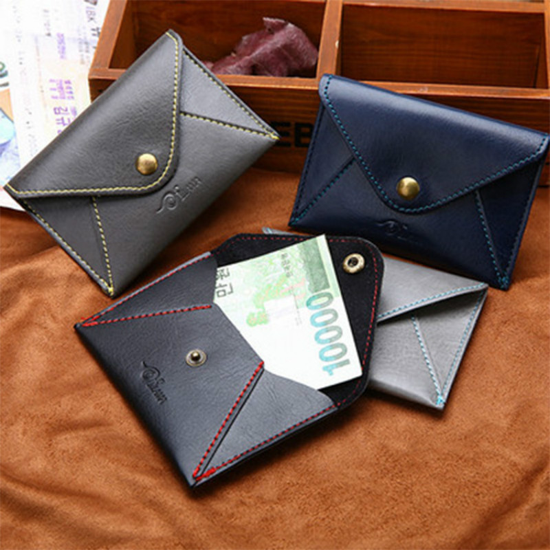 2018 New Fashion Slim Men Wallets Leather Bifold Wallet ID Credit Card Holder Small Coin Purse Pockets Housekeeper Clutch Bags