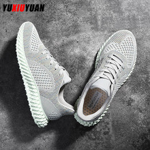 2019 Men Flying Weaving Mesh Cushioning Breathable Running Shoes Adult Deodorant Ultralight Outdoor Lace-Up Sneakers