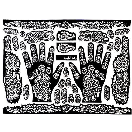 New Arrival! Tattoo Templates Hands/Feet Henna Tattoo Stencils For Airbrushing Mehndi Body Painting