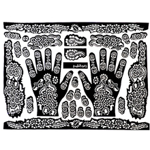 New arrival! Tattoo Templates Hands/Feet Henna Tattoo Stencils for Airbrushing Mehndi Body Painting India Flower Tattoo Stencil