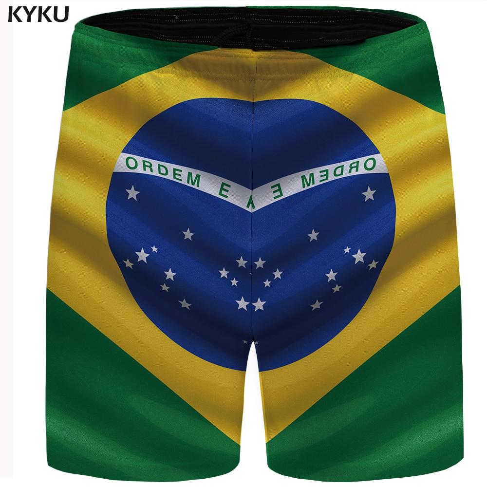 Kyku Brasilien Flagge Shorts Männer Grün Strand Cargo Stern Casual Shorts Kühlen Herren Kurze Hosen 2018 Neue Sommer Mode Große Größe SchüTtelfrost Und Schmerzen Herrenbekleidung & Zubehör