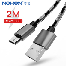 NOHON Micro USB Sync Charger Cable For Samsung Galaxy S7 S6 Huawei Xiaomi Redmi 4X 4A Android Phone Fast Charging Cables 1M