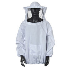 Professional Beekeeping Protective Suit Jacket Practical White Clothing Veil Dress With Hat Equip