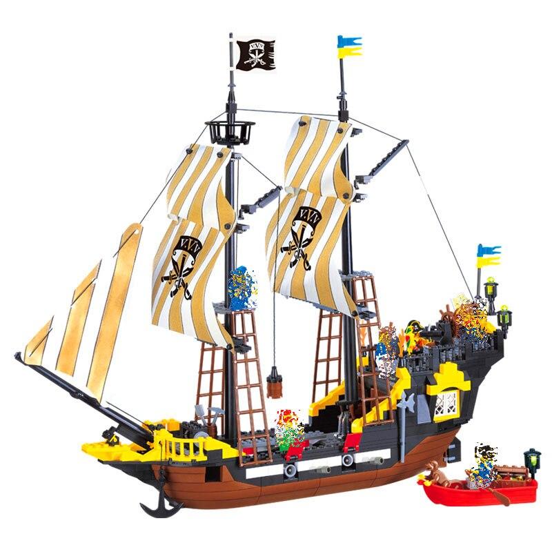 ENLIGHTEN 307 Caribbean Pirate Ship Weapon Building Blocks Brick Set Compatible LegoIN Technic Playmobil Toys For ChildrenENLIGHTEN 307 Caribbean Pirate Ship Weapon Building Blocks Brick Set Compatible LegoIN Technic Playmobil Toys For Children