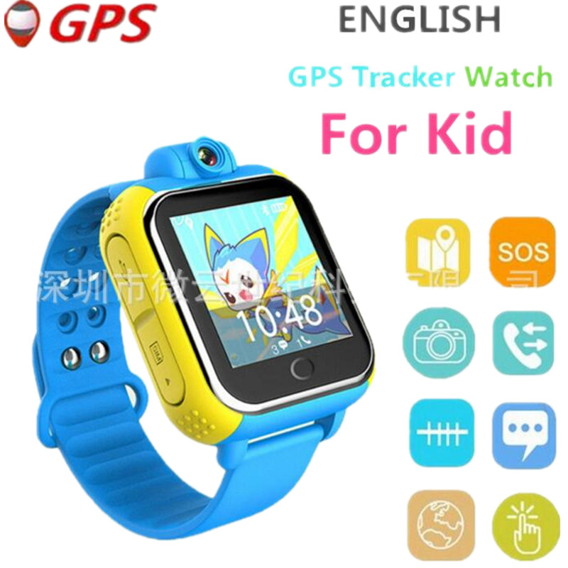 English 3G Smart Watch 3G Wifi Quad Core Support SIM Smartwatch GPS Watch Children Kid Clock For IOS Android 5.1 Megir Saat F2 kw88 smart watch phone android bluetooth wifi support google play gps map mtk6580 quad core 1 39 inch screen smartwatch clock
