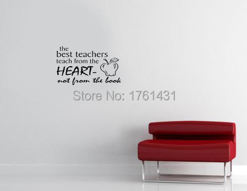 die beste lehrer lehren aus dem herzen dekoration wandkunst aufkleber wohnzimmer dekorative aufkleber zitat - Beste Wohnzimmer Wandkunst
