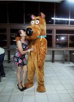 EVA Material Helmet Scooby Doo dog Mascot Costumes Cartoon Apparel advertisement costumes Halloween Birthday party