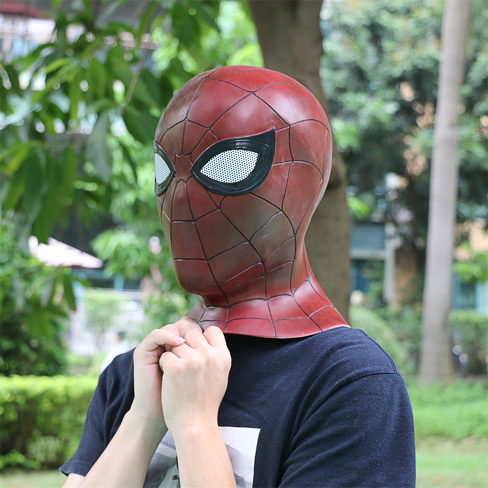 2018 Avengers 3 Infinity War Spiderman Mask Cosplay Iron Spiderman 3D Latex Mask (12)
