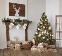 Рождественские украшения для дома фотографии фонов рождественские Фон Фото фон новорожденный Рождество фон XT-4754