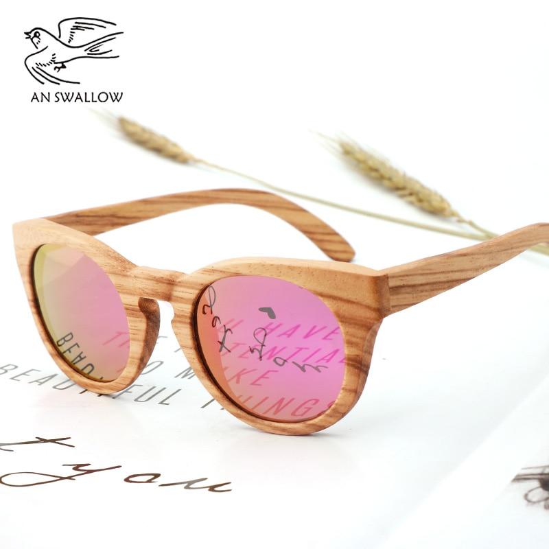 Vintage 100% Real Zebra Wood Sunglasses Polarized Handmade Bamboo Men's Sunglasses Sunglasses Men's Gafas Oculos De Sol Madera