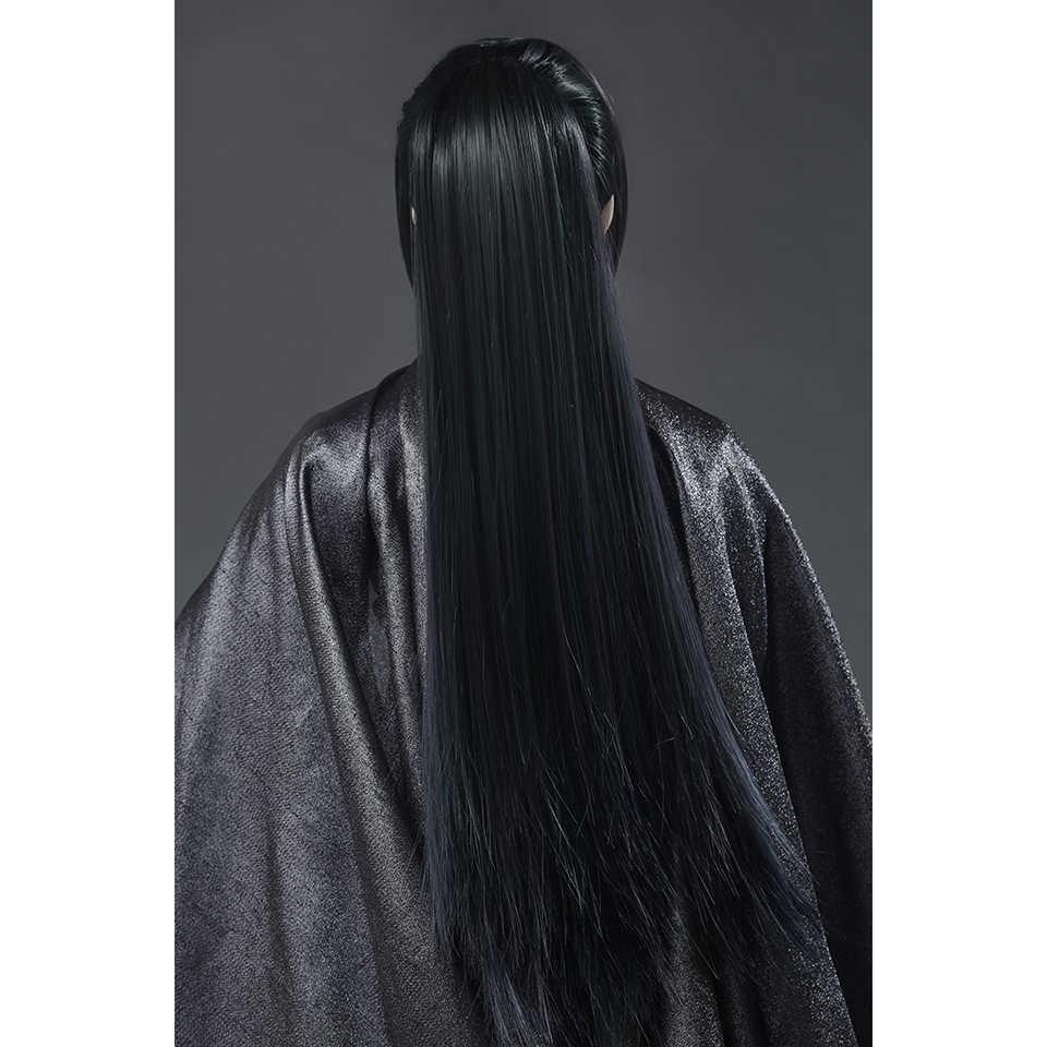 Allaosify Bjd парик 1/3 серый синий персональный пони хвост кукла аксессуары