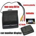 Бесплатная Доставка Отличное Качество двухсторонней AV в обратный приоритет 4.3 7-дюймовый TFT LCD ЦВЕТНОЙ Экран Монитора Автомобиля для Заднего Вида камера
