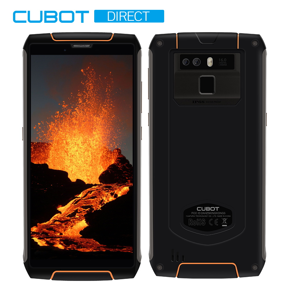 Cubot Roi Kong 3 IP68 Étanche Et Robuste Téléphone NFC 6000 mAh Grosse Batterie Android 8.1 4 GB + 64 GB type-C Charge Rapide MT6763T Octa core