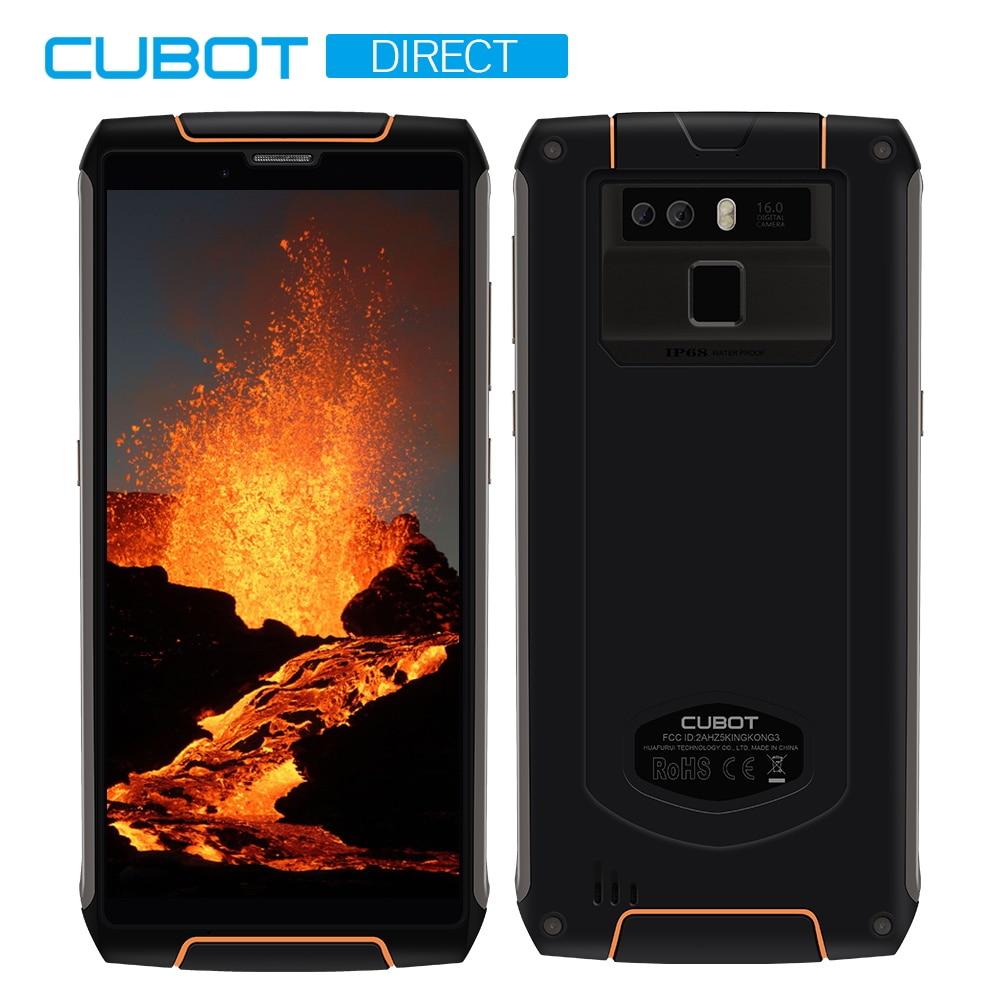 Cubot King Kong 3 IP68 impermeable teléfono resistente NFC 6000 mAh Batería grande Android 8,1 4 GB + 64 GB tipo-C de carga rápida MT6763T Octa core