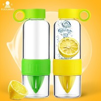 428ml Orange Lemon Juice Cup Squeeze Cup Vitality Bottle Readily Bottle BPA Free Fruit Water Bottle