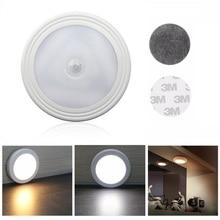 6 LED Infrared PIR Motion Sensor Night Light Wireless Cabinet Light Wall Lamp Light Auto On/Off Closet Battery Power