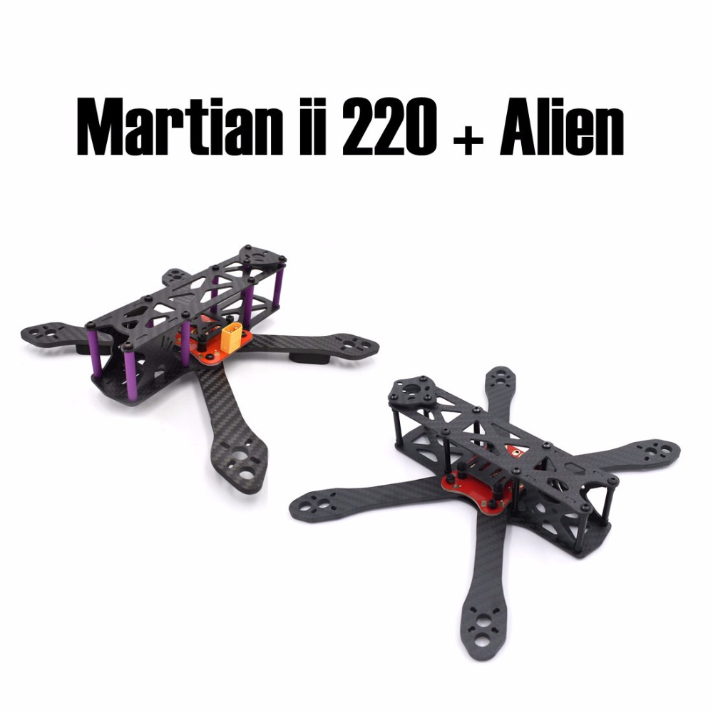 Reptile Martian II 220 220mm and Alien FPV quadcopter pure carbon Fiber 225 225mm frame kit + PDB quadcopter h4 4axis 660mm foldable carbon fiber alien quadcopter frame kit page 2