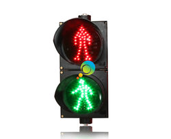 Factory direct price road junction 200mm red green LED pedestrain light traffic signal for sale