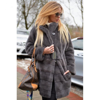 CHEWIES Winter Women Natural Fur Jacket Real Mink Coat Belt Long Outerwear New Arrival Plus OverSize Spring Factory Outlet 1111