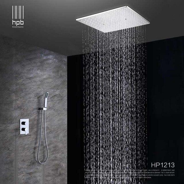 dgps plafond mont grande douche effet pluie t te syst me de bain pluie m langeur de douche. Black Bedroom Furniture Sets. Home Design Ideas