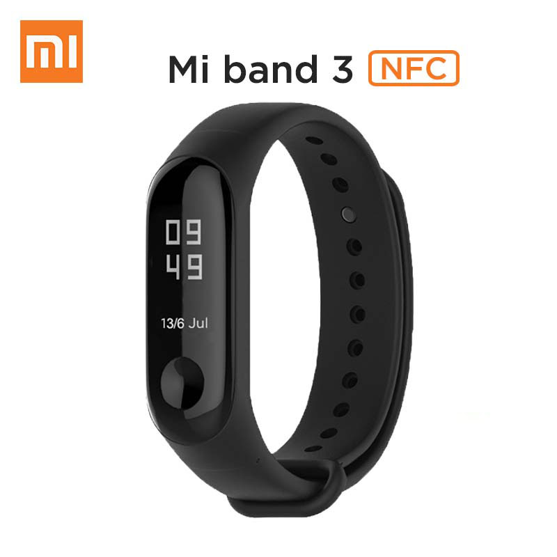 Original Xiaomi Mi band 3 NFC Version 0 78 OLED Big touch Screen 2018 New Smart