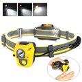 025 Mini Sensor Headlight XPE + COB Portable Headlamp 110LM Range Fishing Cmaping Light AAA Head lamp ,New