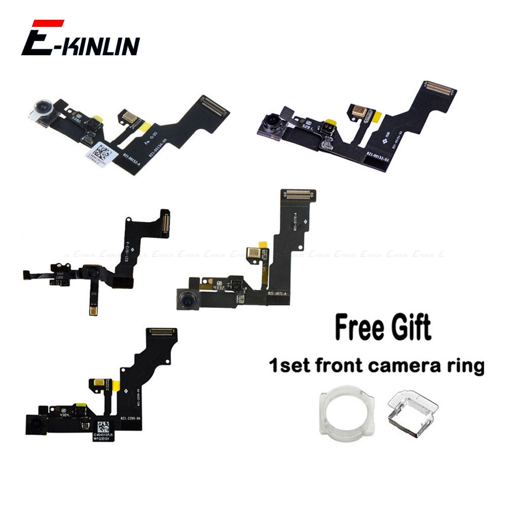 NEW Front Camera Proximity Sensor Light Mic Flex Cable For IPhone 4 4S 5 5C 5S SE 6 6S Plus With Front Camera Ring Holder