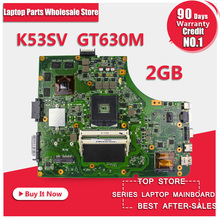 For Asus K53SV K53SM system board motherboard 8 memory mainboard GT 630M with 2GB DDR3 RAM 100% test