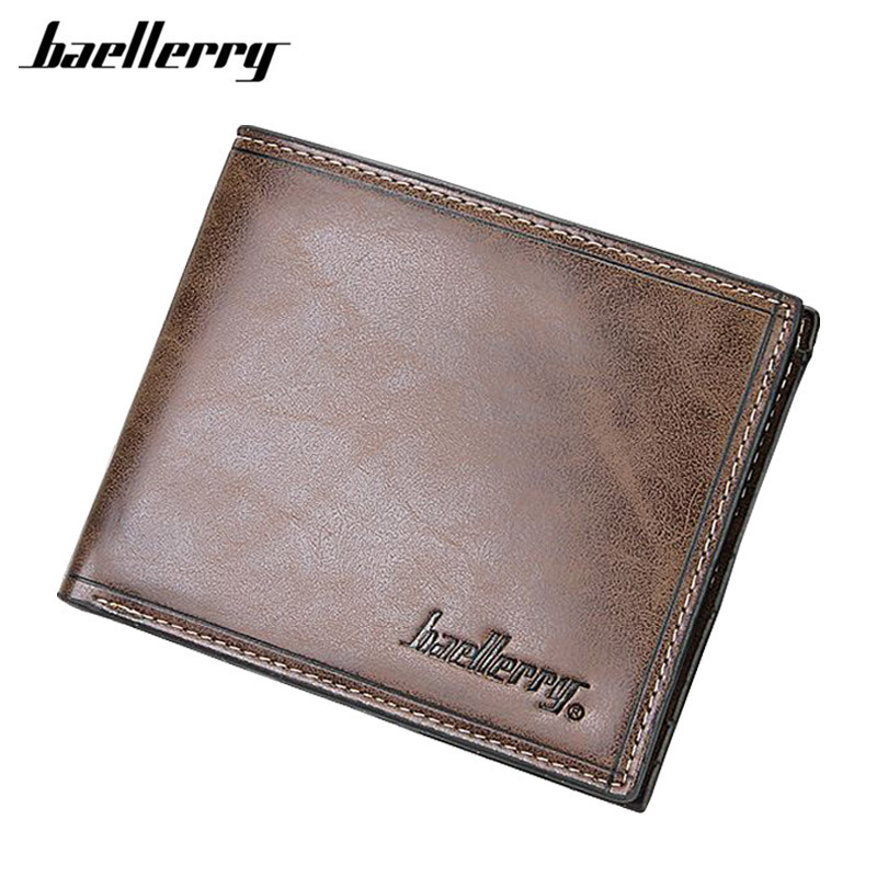 Baellerry New Fashion Men Wallets Short Design Male Purse Pocket Wallet Pu Leather carteira brand Baellerry Money Purses