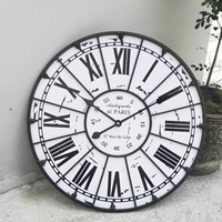 Large 60cm Industrial Wall   Clock   Vintage Retro Art Design Roman Number Stereoscoptic Needle Wall   Clocks   For Home Decorate