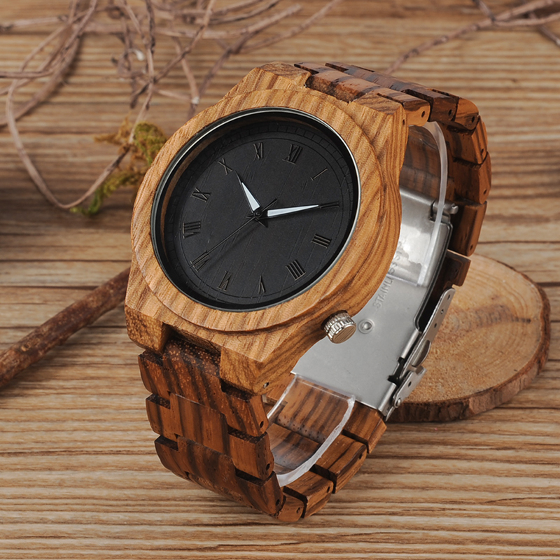BOBO BIRD Wood Strap Wristwatch Wooden Strap Quartz Watch Gifts relogio masculino 2017 (6)