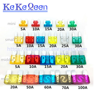 ZINC pins Mini Small Medium Max Car Blade Fuse auto fuse 1A 2A 3A 5A 7.5A 10A 15A 20A 25A 30A 35A 40A 50A 60A 70A 80A 100A 120A(China)
