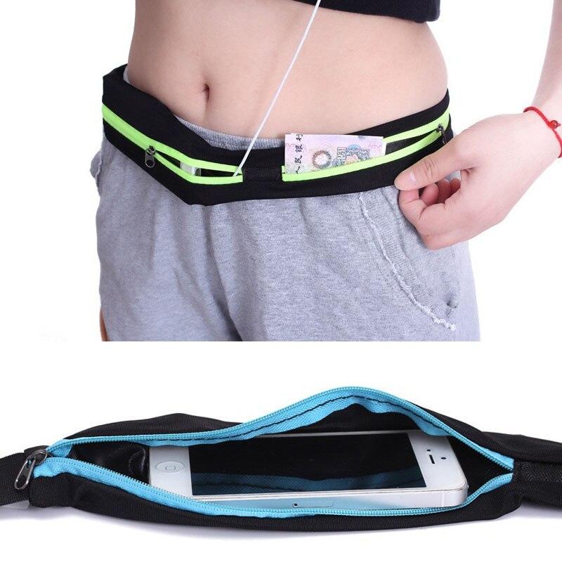 2019 Double Pocket Waist Bag Fanny Pack For Women Portable Waterproof Chest Bag Phone Belt Bag Big Capacity Unisex Money Pouch