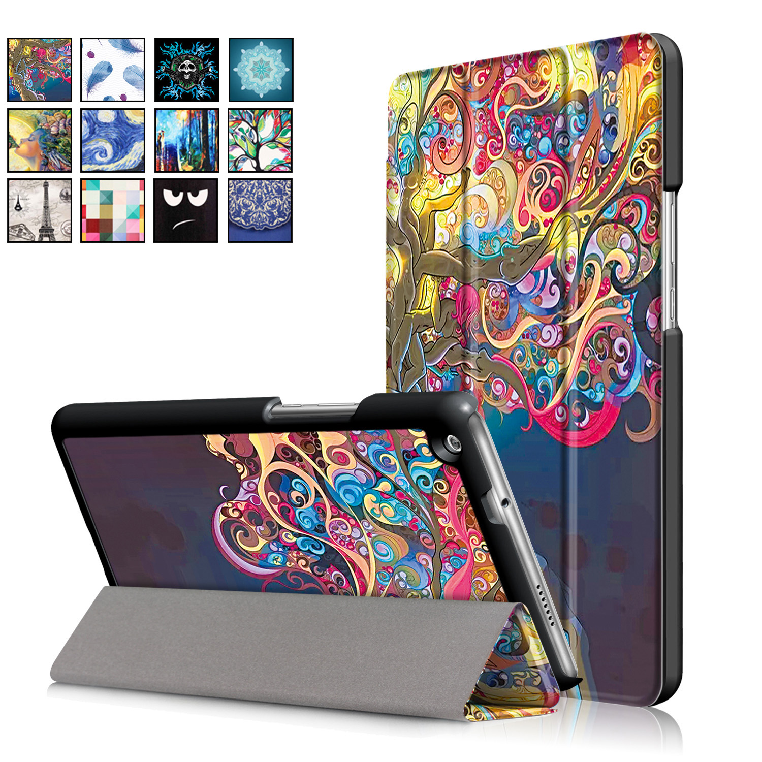for 2017 Huawei [M3 Lite 8.0] Case, Ultra Slim Case + PU Leather Smart Cover Stand Auto Sleep/Wake for 8.4 Mediapad M3 Lite 8.0 megoo case cover sleeve for huawei mediapad m3 8 4 ultra slim lightweight folio stand 8 4inch