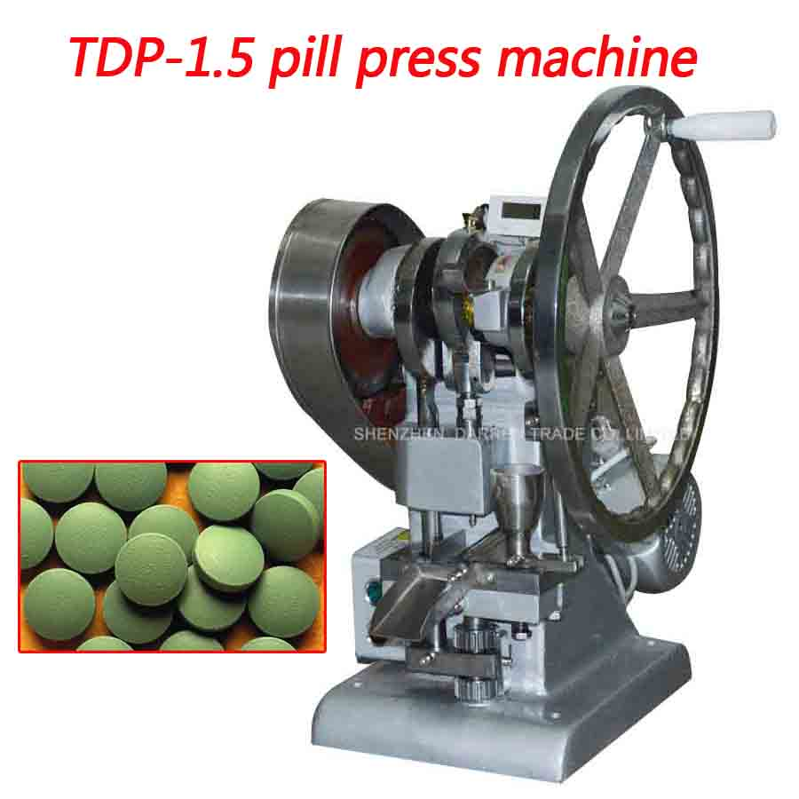 US $804 56 11% OFF TDP 1 5 Single punch tablet press machine TDP 1 5 pill  press machine / pill making / TABLET PRESSING, pill making 1pc-in Punching