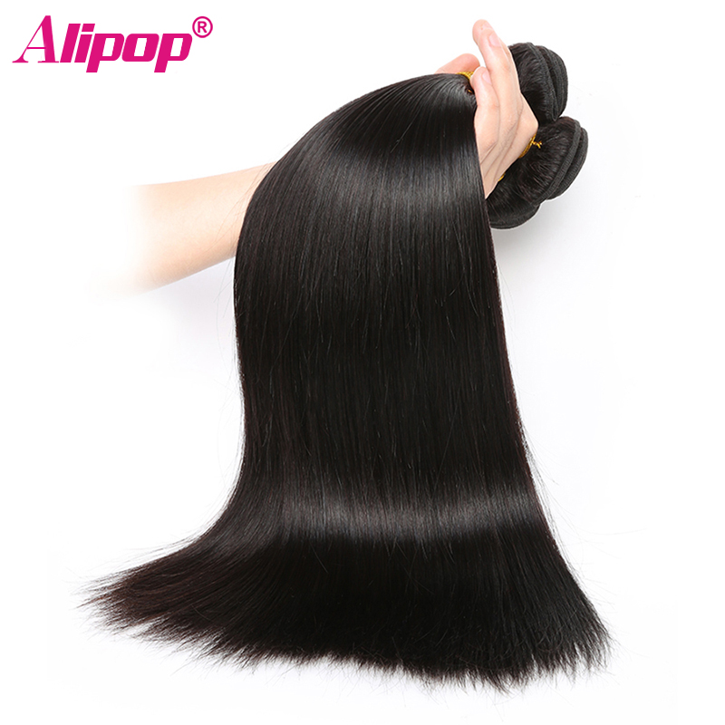 3 Bundles Raw Indian Straight Hair Bundles Human Hair Extensions Double Weft Remy Hair Weave Bundles