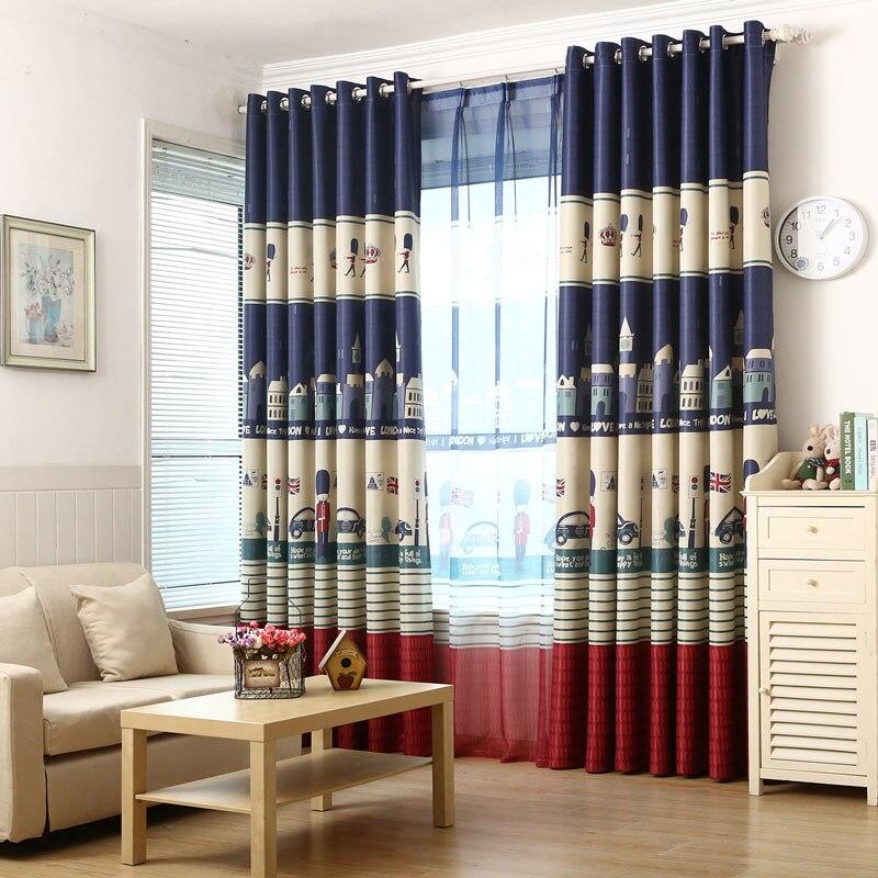 cartoon london diseo de cortinas para el dormitorio de nios sala nios habitacin del beb ventana