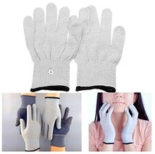 2pcs Conductive TENS Massage gloves for TENS/EMS physical therapy Hand Massage Anti-static/Anti-skid electrode gloves.