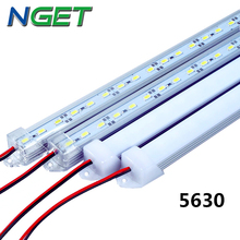 2 unids/lote DC12V SMD 5630 llevó la barra ligera 5630 Led duro rígido luz 5630 con cubierta de la pc, 36 Led 0.5 m, blanco frío / blanco / caliente blanco / R / G / B