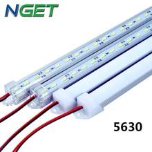 2pcs/lot DC12V SMD 5630 LED Bar light  5630 LED Hard rigid Light 5630 with PC cover,36Led 0.5m,cold white/white/warm white/R/G/B