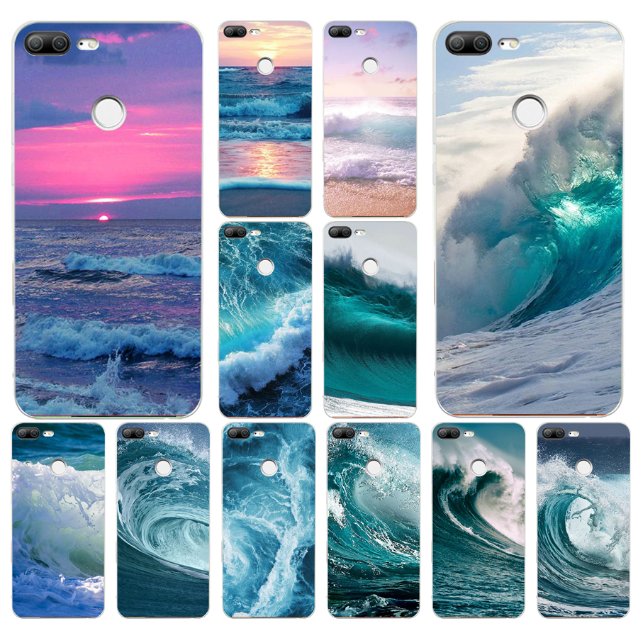 137A Summer nature sea <font><b>blue</b></font> Ocean Waves Soft Silicone Tpu Cover phone <font><b>Case</b></font> for huawei <font><b>Honor</b></font> <font><b>9</b></font> <font><b>Lite</b></font> 10 p <font><b>9</b></font> 10 <font><b>lite</b></font> <font><b>case</b></font> image