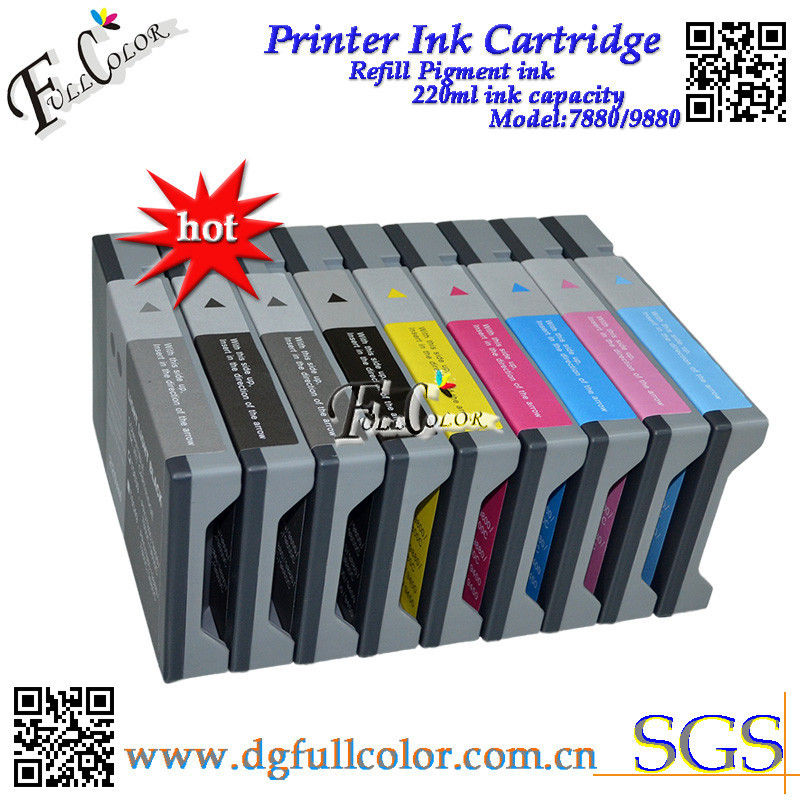 Free shipping ! 8 piece a lots Replace Printer Ink <font><b>Cartridge</b></font> With ink And Chip for Eps0n <font><b>7800</b></font> 9800 7800C 9800C Printer inks image