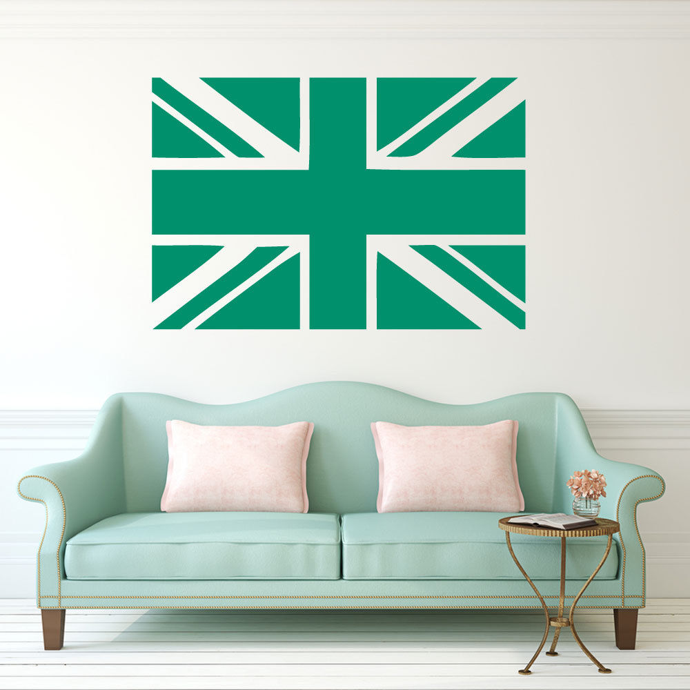 Home Decor Mural Art Wall Paper Stickers ~ Removable union jack flag british wall sticker room decor