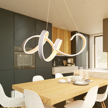 led chandelier Restaurant personality creative postmodern simple and stylish warm romantic bedroom lamp abaju