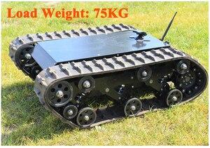 600t гусеничный робот-бак, шасси RC умный гусеничный бак платформа, машина с поперечными препятствиями с максимальной нагрузкой 75 кг