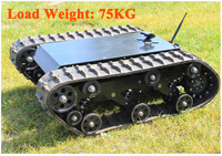 600t Tracked Robot Tank Chassis RC Smart Crawler Tank Platform Cross obstacle Machine with Max Load 75kg