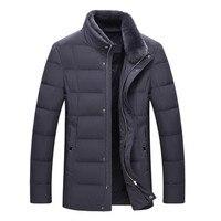 2017 Brand Winter Jacket Men Thick Warm Jacket Mens Autumn Outerwear Zippers Parka Mens Solid Coat