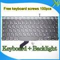 """Las Novedades Para El MacBook Pro Retina 13.3 """"A1425 RU Ruso teclado Retroiluminado teclado + Backlight + 100 unids tornillos 2012 Año"""