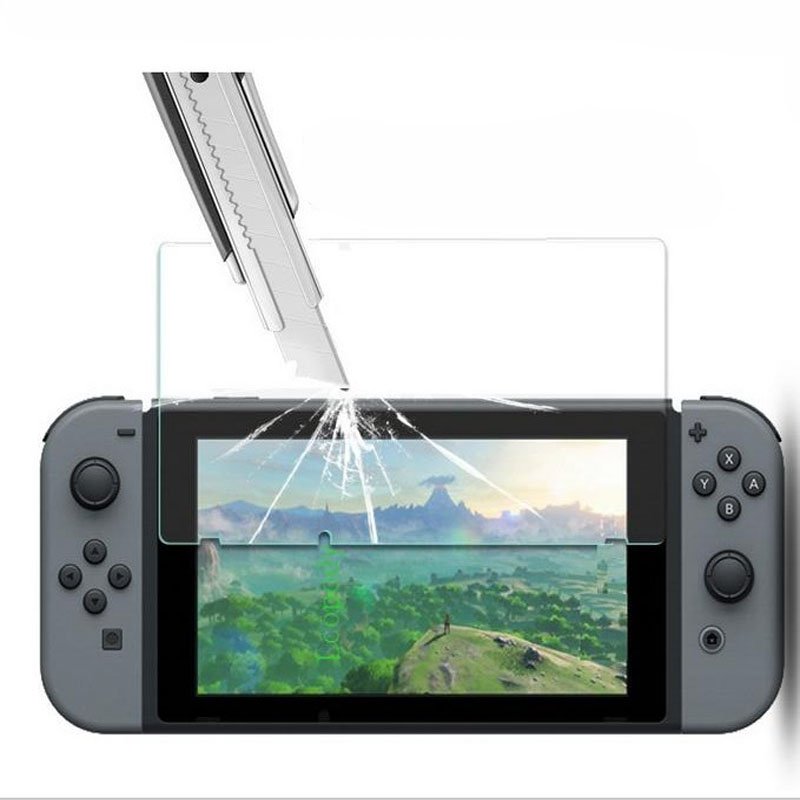 все цены на Tempered glass Ultra Clear Full HD Screen Protective Film Surface Guard for Nintend Switch NS Console Protector Cover Skin онлайн