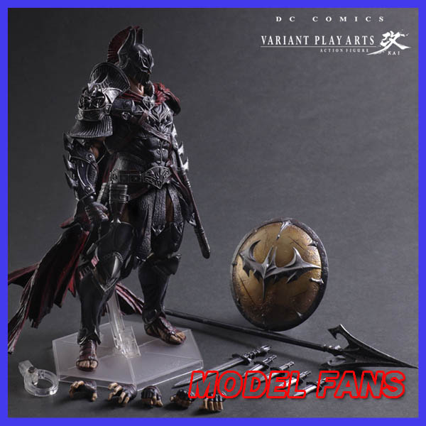 MODEL FANS Batman Figure Timeless Sparta BAT Play Arts Kai Variant Play Art KAI PVC Action Figure Bat Man Bruce Wayne 25cm Doll super street fighter iv akuma gouki white variant play arts kai action figure